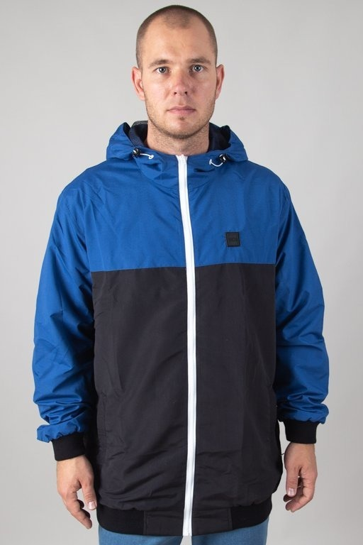 Kurtka SSG Wiatrówka Zip Half Colors Blue-Black