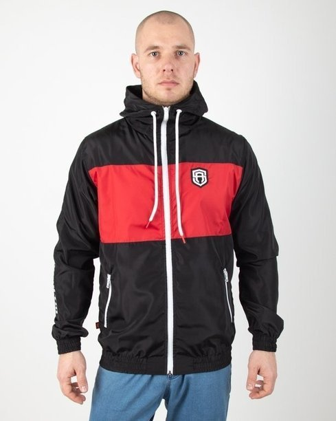 Kurtka Street Autonomy Wiatrówka Zip Friction Black-Red