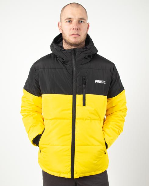 Kurtka Zimowa Prosto Adament Black-Yellow