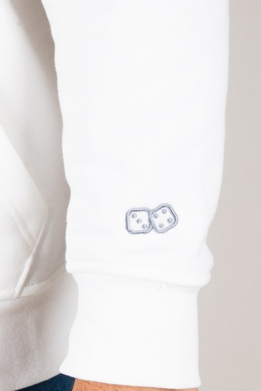LUCKY DICE HOODIE LOGO WHITE-GOLD