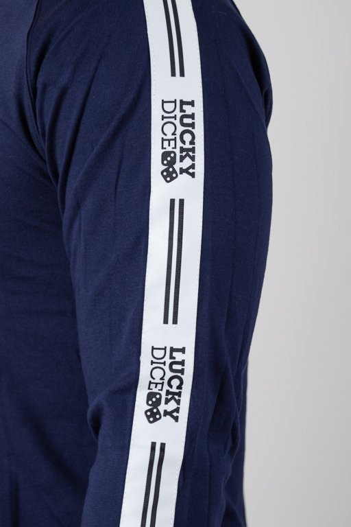 Longsleeve Lucky Dice Logo Raglan Tape Navy