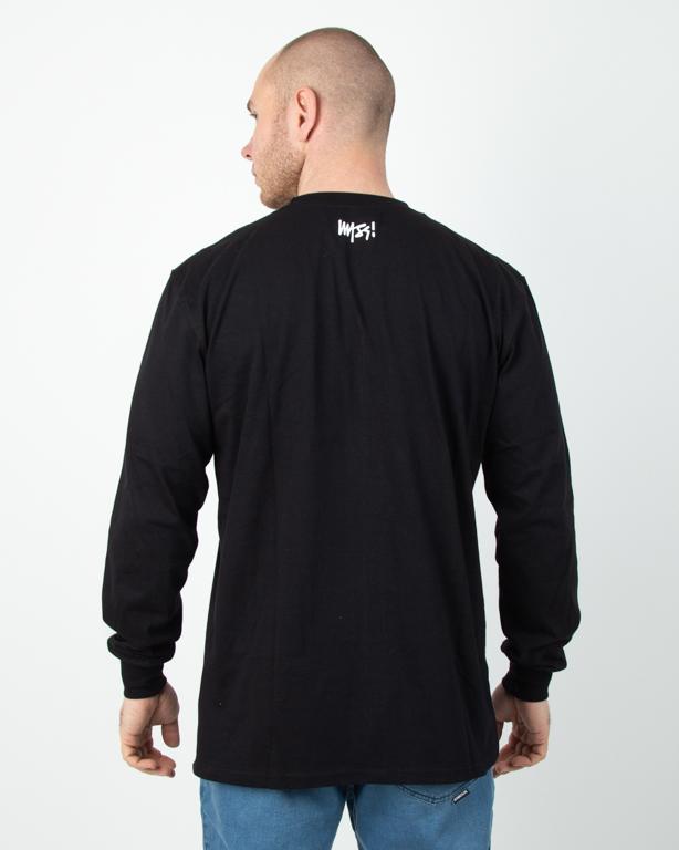 Longsleeve Mass Signature Medium Logo Black