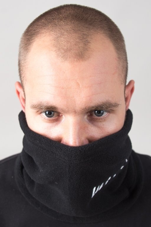 MASS NECK WARMER SIGNATURE BLACK