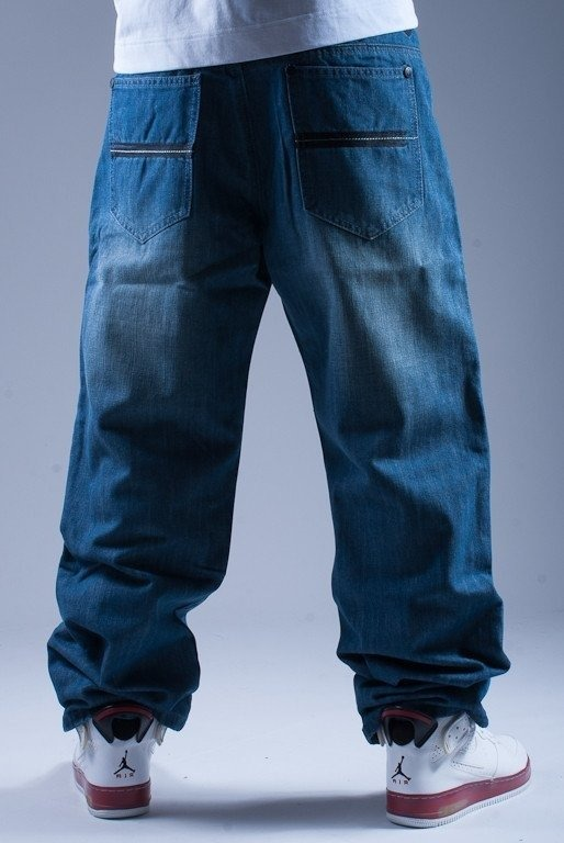 MASS SPODNIE JEANS MOONWALK BLUE
