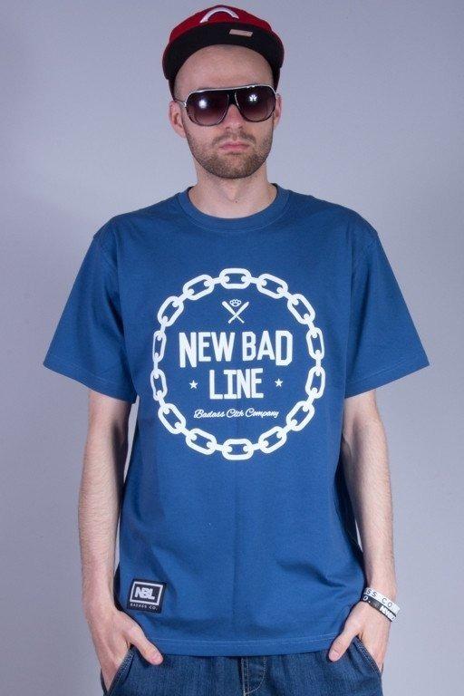 NEW BAD LINE KOSZULKA CHAIN NAVY BLUE