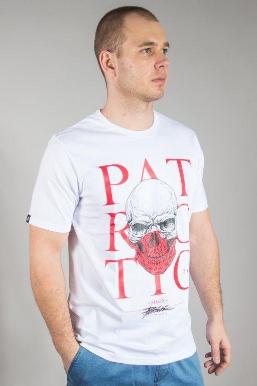 PATRIOTIC T-SHIRT SKULL POLAND WHITE