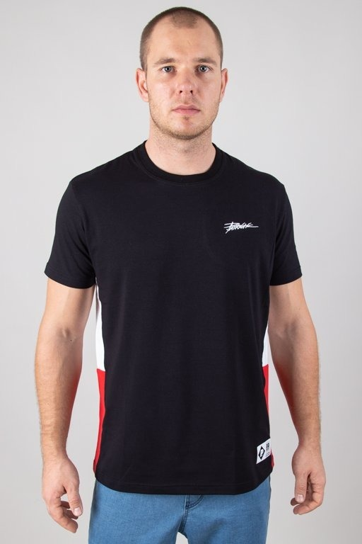 PATRIOTIC T-SHIRT TAG SLICES BLACK-RED