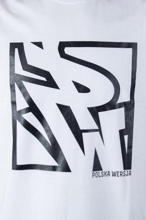 POLSKA WERSJA T-SHIRT PW DO KWADRATU WHITE