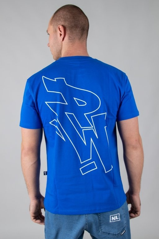 POLSKA WERSJA T-SHIRT PW OUTLINE BLUE