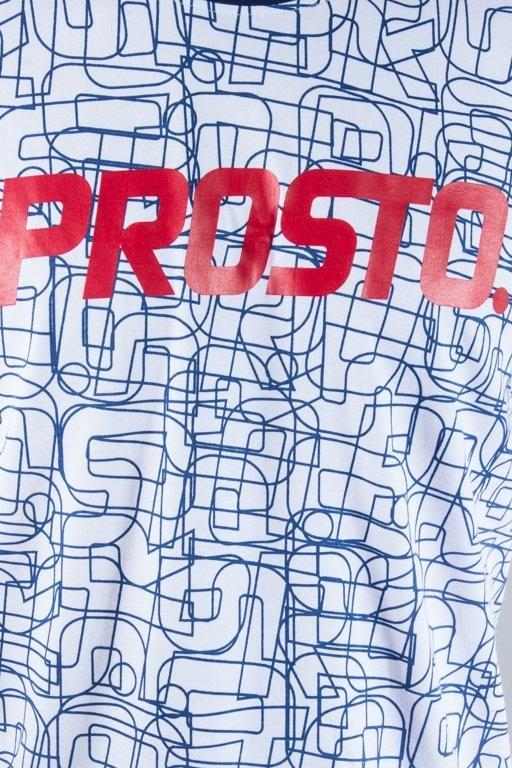 PROSTO T-SHIRT LINES WHITE-NAVY