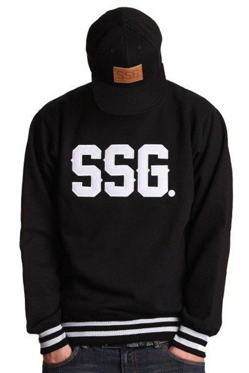 SSG BLUZA BEZ KAPTURA HORIZONTAL BLACK