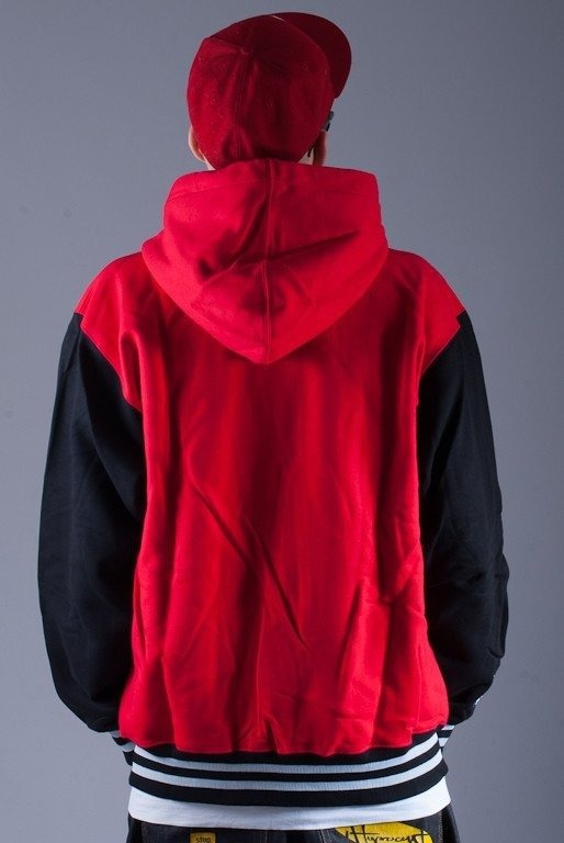 SSG BLUZA Z KAPTUREM ZIP BIG G RED-BLACK