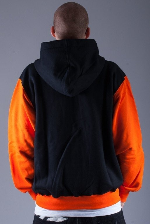 SSG BLUZA Z KAPTUREM ZIP INSIDE BLACK-ORANGE