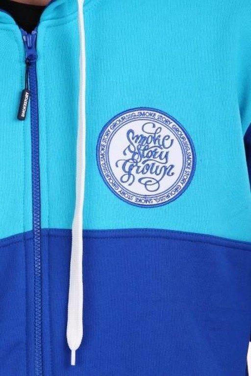 SSG BLUZA ZIP CIRCLE BLUE