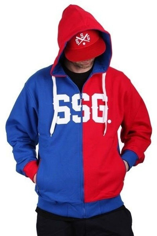 SSG BLUZA ZIP HORIZONTAL RED-BLUE