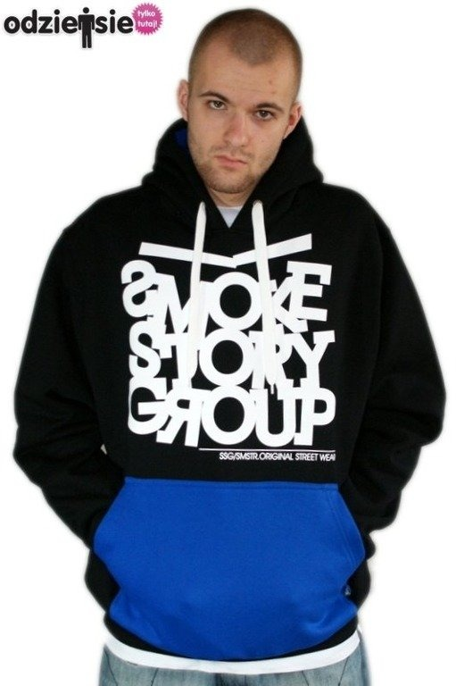 SSG SMOKE STORY GROUP BLUZA SMG LINE BLACK