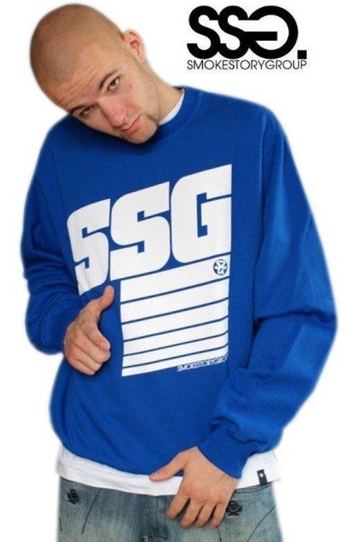 SSG SMOKE STORY GROUP BLUZA STRIPS BLUE