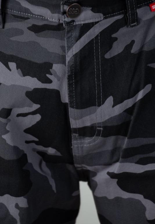 SSG Smoke Story Group Krótkie Spodenki Bojówki Jeans I Moro Camo Grey