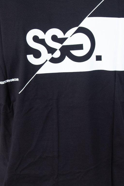 SSG T-SHIRT FRONT BACK CUT LOGO BLACK