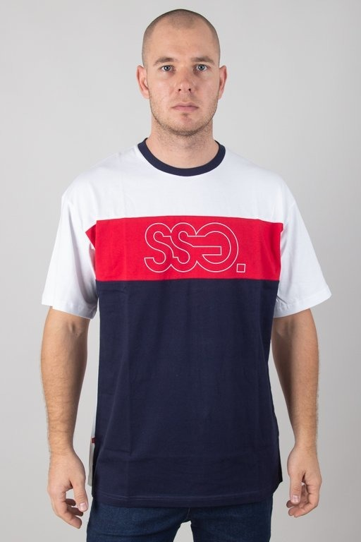 SSG T-SHIRT TRIPLE OUTLINE WHITE-RED-NAVY