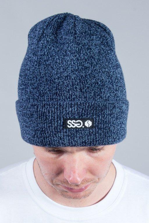 SSG WINTER CAP WYWIJANA MELANŻ BLUE