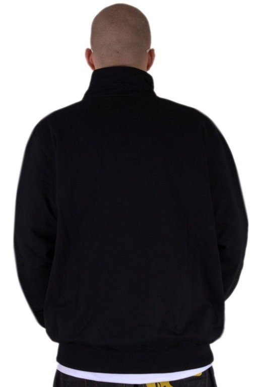STOPROCENT BLUZA BEZ KAPTURA ZIP FOOTBALL FRONT TAG BLACK
