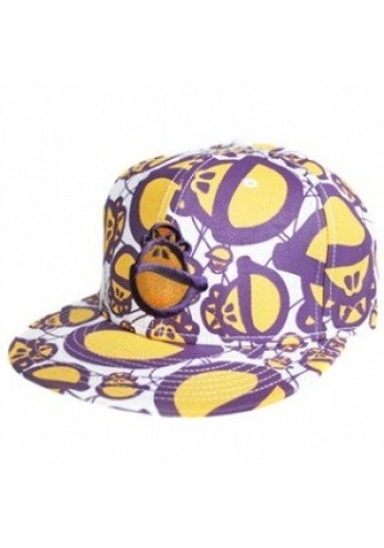 STOPROCENT CZAPKA MONKEY VIOLET-YELLOW