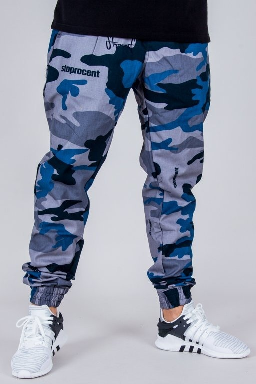 STOPROCENT PANTS CHINO JOGGER CLASSIC CAMO NAVY BLUE