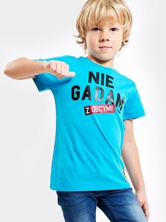 STOPROCENT T-SHIRT KIDS NIE GADAM BLUE