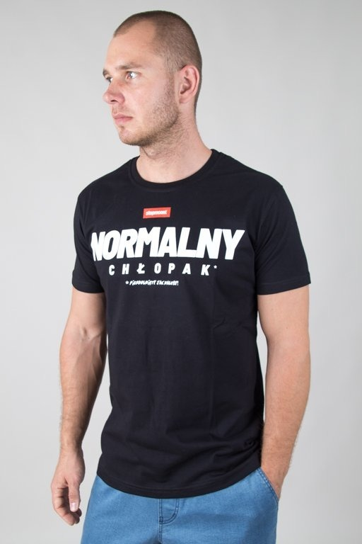 STOPROCENT T-SHIRT NORMALNY BLACK