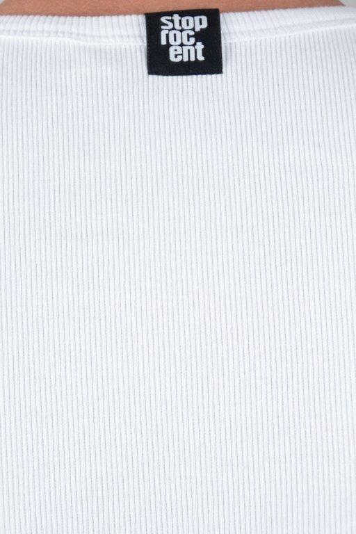 STOPROCENT TANKTOP RIBB WHITE