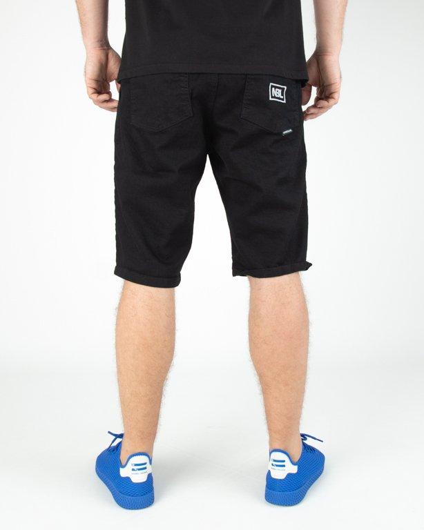 Spodenki New Bad Line Jeans Icon Black