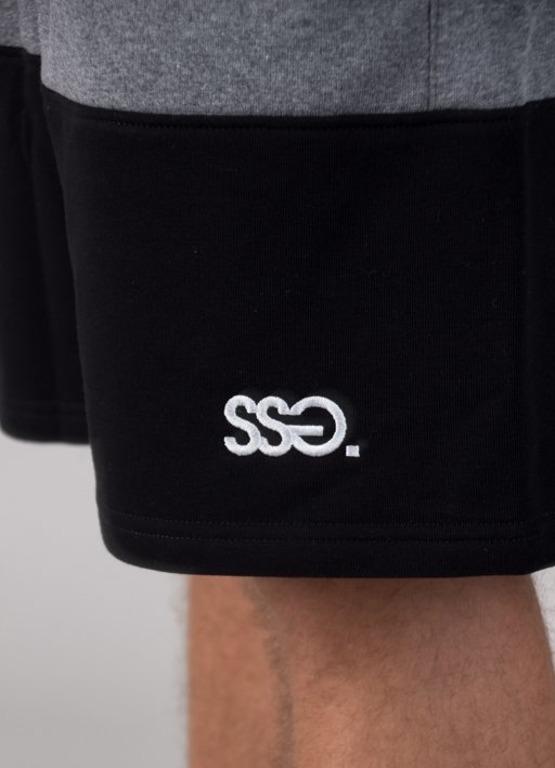 Spodenki SSG Dresowe Premium Light Double Grey-Black
