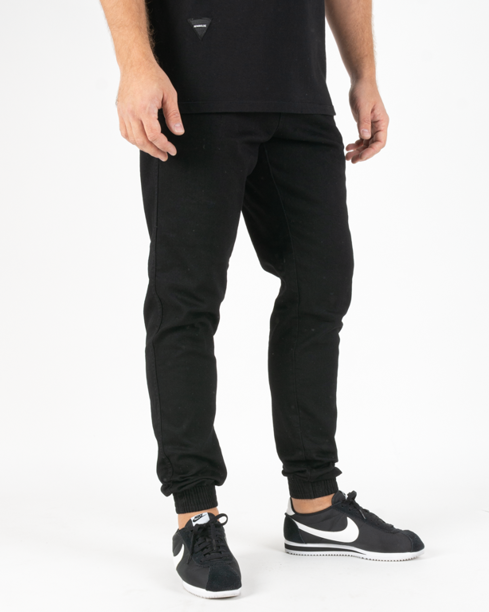 Spodnie Bor Jeans Jogger Classic B Logo Black