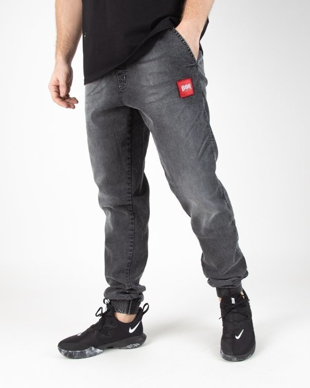 Spodnie Bor Jeansy Jogger New Kwadrat Grey