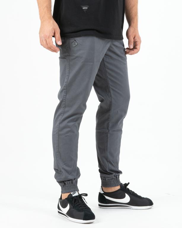 Spodnie Chino Jogger Ganja Mafia Gm Logo Grey