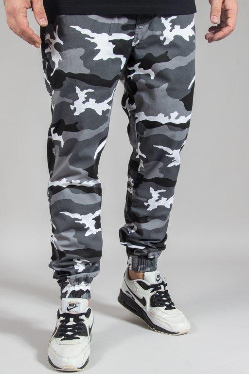 Spodnie Diamante Wear Chino Jogger Rm Black-White Camo