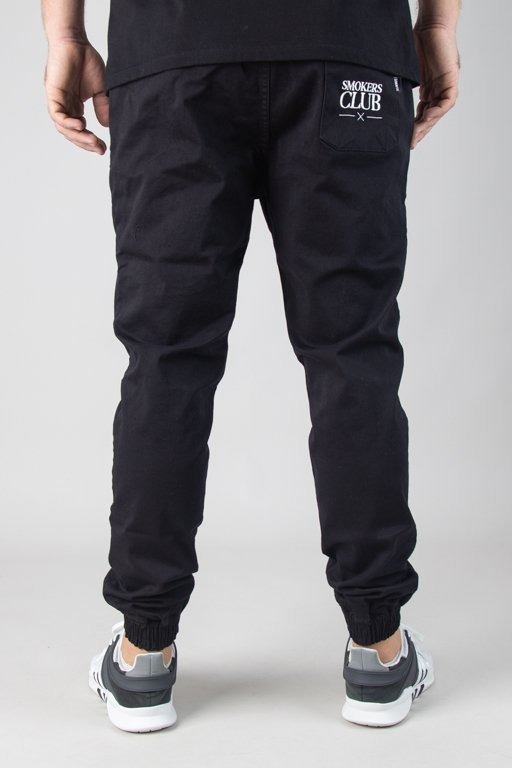 Spodnie Diamante Wear Chino Jogger Smokers Club Black