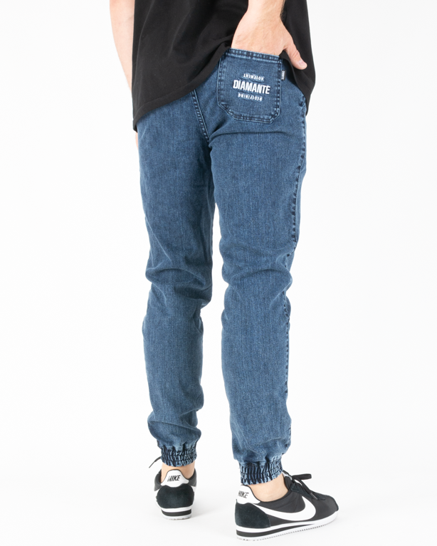 Spodnie Diamante Wear Jeans Jogger Rm Marmur Blue