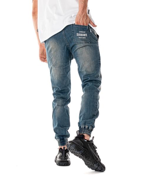Spodnie Diamante Wear Jeansy Jogger Paint Light
