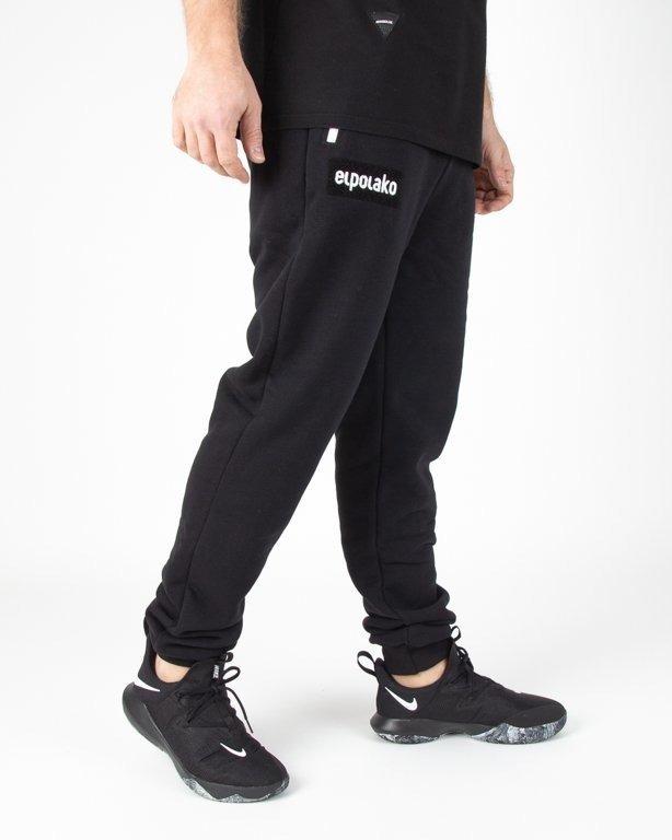 Spodnie El Polako Dresowe Fit Logobox Black