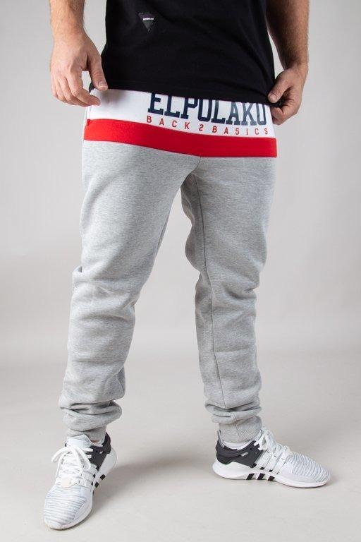Spodnie El Polako Dresowe Fit School Grey