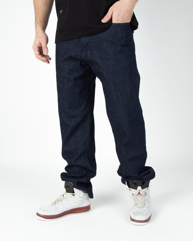 Spodnie El Polako Jeansowe Regular Handmade Dark