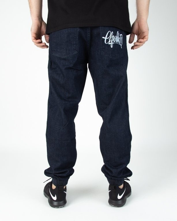 Spodnie El Polako Jogerry Jeansowe Regular Handmade Dark