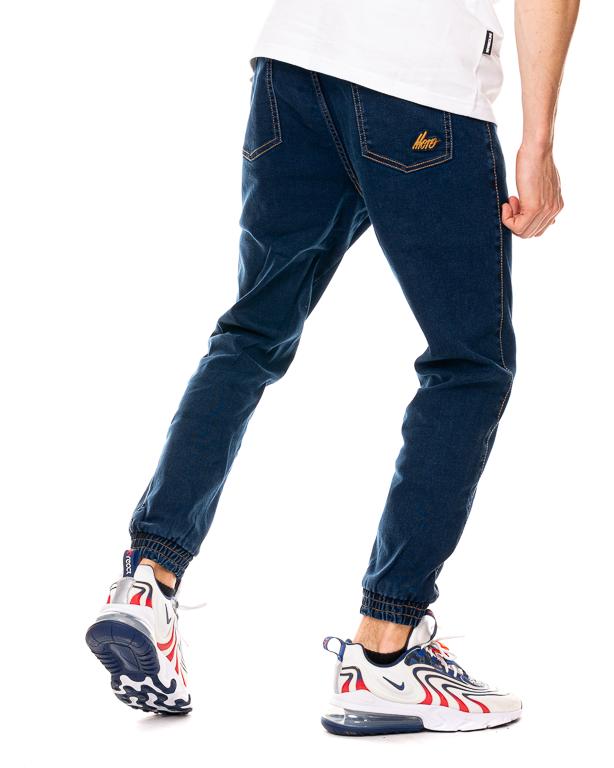 Spodnie Jeans Jogger Moro Sport Slant Tag Pocket Ciemnoniebieskie