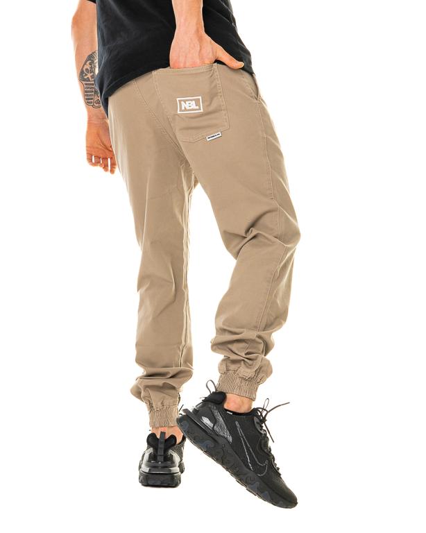 Spodnie Materiałowe Jogger New Bad Line Icon Beżowe