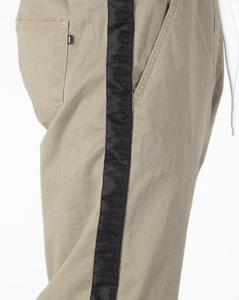 Spodnie SSG Chino Joggery Czarny Lampas Beige