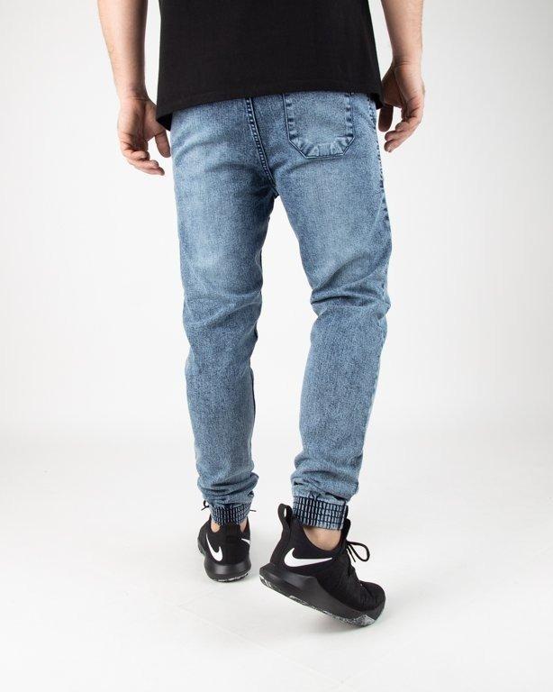 Spodnie SSG Jeansy Jogger Premium Marmurki Light