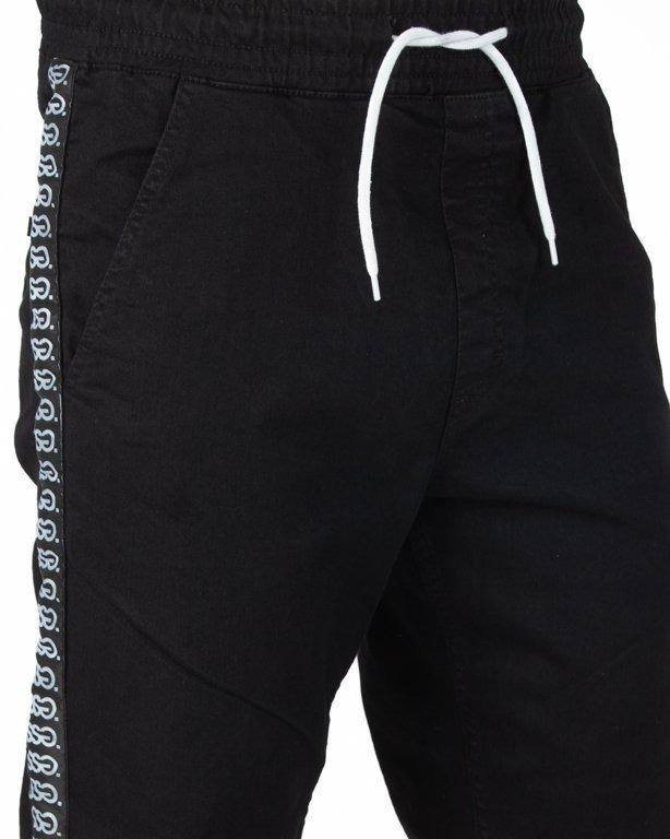 Spodnie SSG Jeansy Joggery  Biały Lampas Black