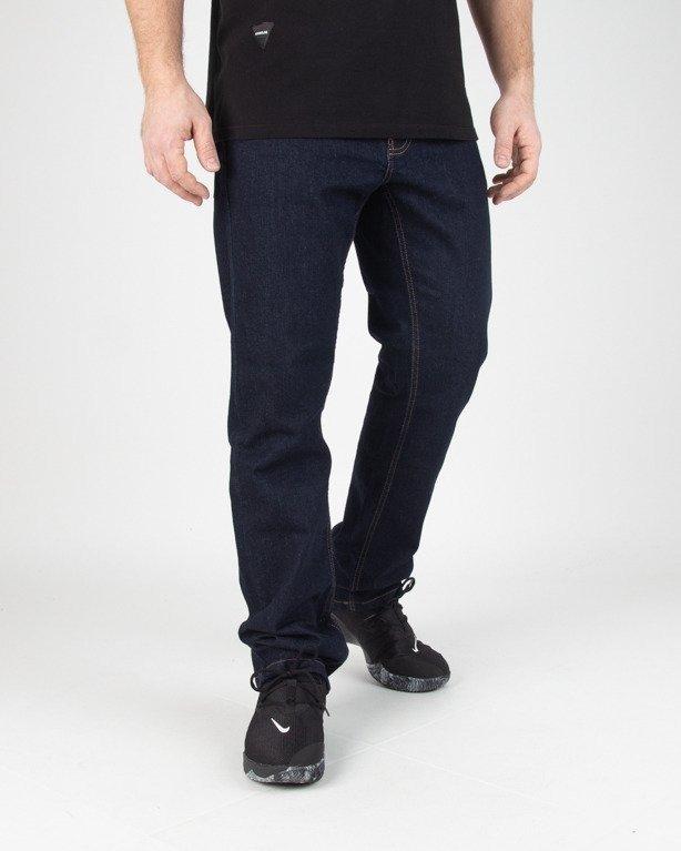 Spodnie SSG Jeansy Slim Classic Haft Dark